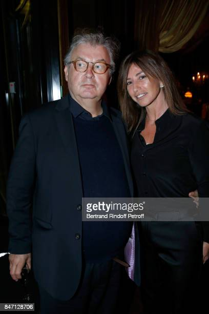 Dominique Besnehard and Albane Cleret attend the Reopening of the Barriere Hotel 'The Fouquet's' decorated by Jacques Garcia at Hotel Barriere Le...