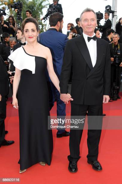 Dominique Blanc and Christian Jean attend 'The Killing Of A Sacred Deer' premiere during the 70th annual Cannes Film Festival at Palais des Festivals...