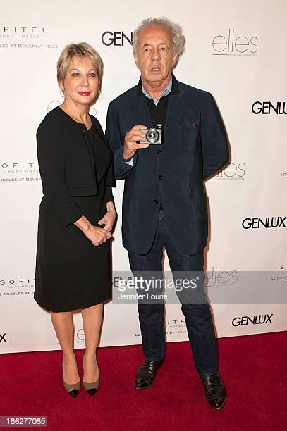 Dominique Colliat and photographer Giles Bensimon attend Genlux Magazine hosts celebrity photographer Gilles Bensimon at Sofitel Hotel on October 29...