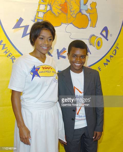 Dominique Dawes and Marc John Jeffries during BuildABear Workshop Opens Fifth Avenue Flagship Store at 565 Fifth Avenue in New York City New York...