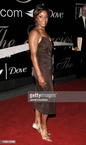 Dominique Dawes during 31st Annual American Women in Radio Television Gracie Allen Awards Red Carpet at Marriott Marquis in New York City New York...