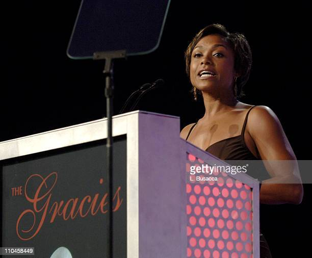 Dominique Dawes during 31st Annual American Women in Radio Television Gracie Allen Awards Show at Mariott Marquis in New York City New York United...