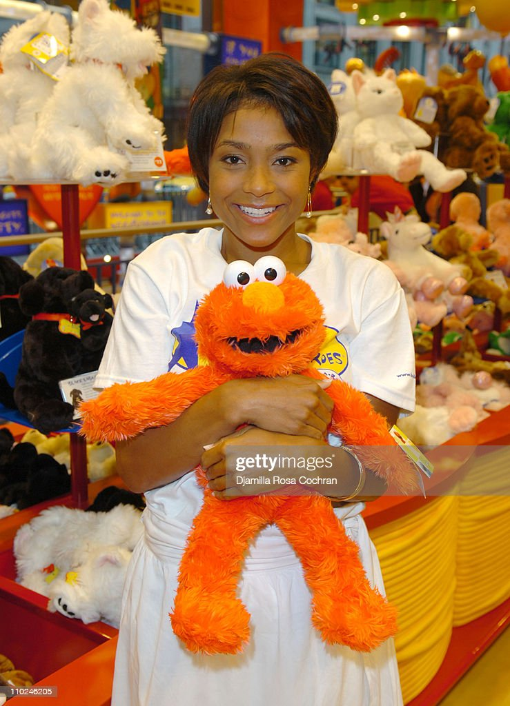 <a gi-track='captionPersonalityLinkClicked' href=/galleries/search?phrase=Dominique+Dawes&family=editorial&specificpeople=243099 ng-click='$event.stopPropagation()'>Dominique Dawes</a> during Build-A-Bear Workshop Opens Fifth Avenue Flagship Store at 565 Fifth Avenue in New York City, New York, United States.