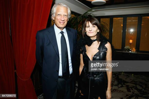 Dominique De Villepin and MarieAmelie Sauve attend the Mastermind Magazine launch dinner as part of Paris Fashion Week Womenswear Fall/Winter...