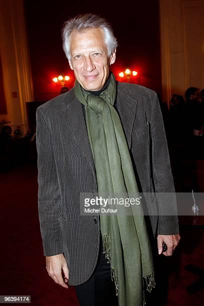Dominique De Villepin attends the 'Seznec' Premiere at Theatre de Paris on February 3 2010 in Paris France