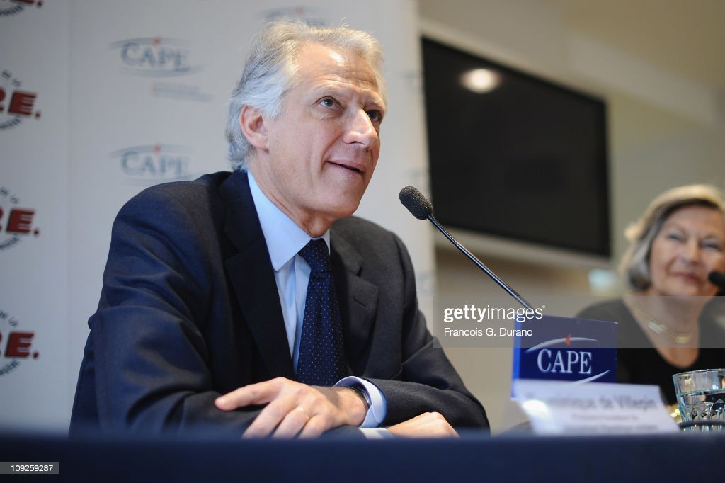 <a gi-track='captionPersonalityLinkClicked' href=/galleries/search?phrase=Dominique+de+Villepin&family=editorial&specificpeople=548074 ng-click='$event.stopPropagation()'>Dominique de Villepin</a>, President and founder of 'Republique Solidaire' gives a press conference at CAPE (Centre d'accueil de la presse etrangere) on February 18, 2011 in Paris, France.