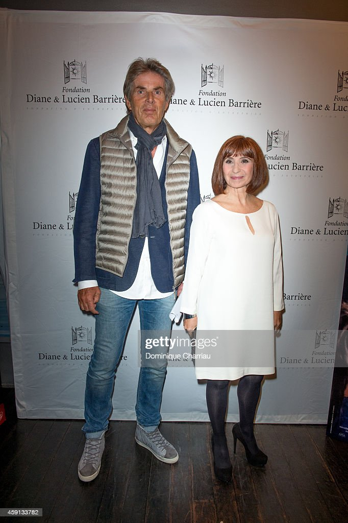 Dominique Deseigne and Ariane Ascaride attend 'Les Heritiers' Premiere Hosted by Fondation Diane & Lucien Barriere at Publicis Champs Elysees on November 17, 2014 in Paris, France.