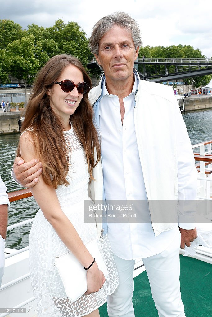 <a gi-track='captionPersonalityLinkClicked' href=/galleries/search?phrase=Dominique+Desseigne&family=editorial&specificpeople=2217719 ng-click='$event.stopPropagation()'>Dominique Desseigne</a> and his daughter Joy attend the 'Brunch Blanc' hosted by Barriere Group. Held on Yacht 'Excellence' on June 29, 2014 in Paris, France.