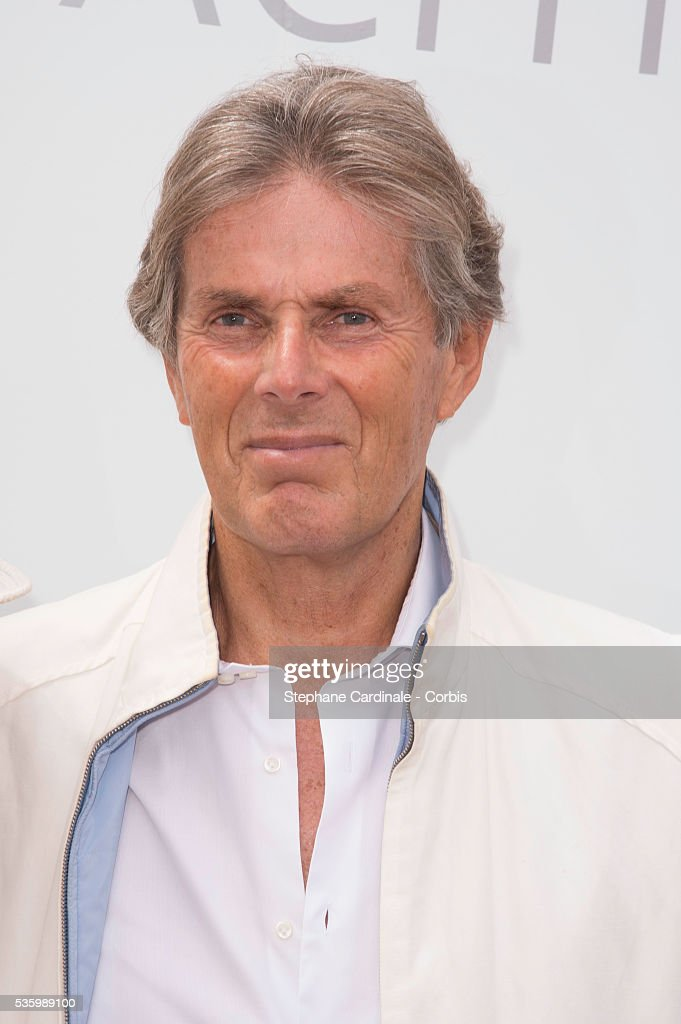 Dominique Desseigne attends the 'Brunch Blanc' hosted by Barriere Group. Held on Yacht 'Excellence' on June 29, 2014 in Paris, France.