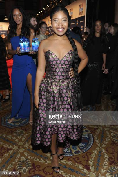 Dominique Fishback attends The 2017 IFP Gotham Independent Film Awards cosponsored by FIJI Water at Cipriani Wall Street on November 27 2017 in New...