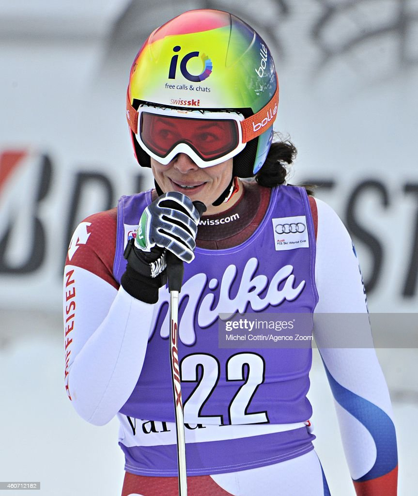 Dominique Gisin of Switzerland competes during the Audi FIS Alpine Ski World Cup Women's Downhill on December 20 2014 in Vald'Isere France
