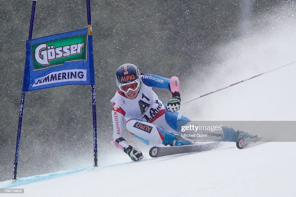 Dominique Gisin \of Switzerland competes in the Audi FIS Alpine Ski World Cup Giant Slalom Race on December 28, 2012 in Semmering, Austria.