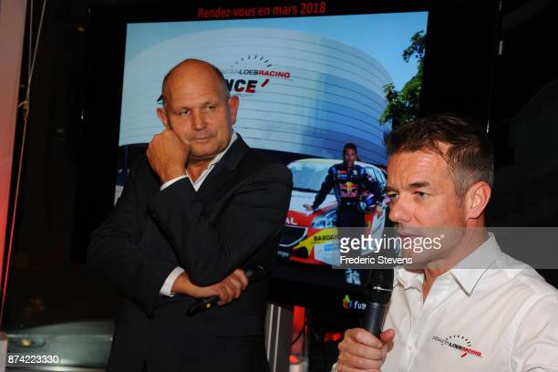 Dominique Hummel director of the Futuroscope and 9 time World Rally Champion Sebastien Loeb present a new attraction for 2018 at Futuroscope on...