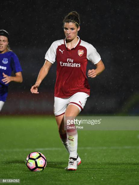 Dominique Janssen of Arsenal during the match between Arsenal Women and Everton Ladies at Meadow Park on August 31 2017 in Borehamwood England