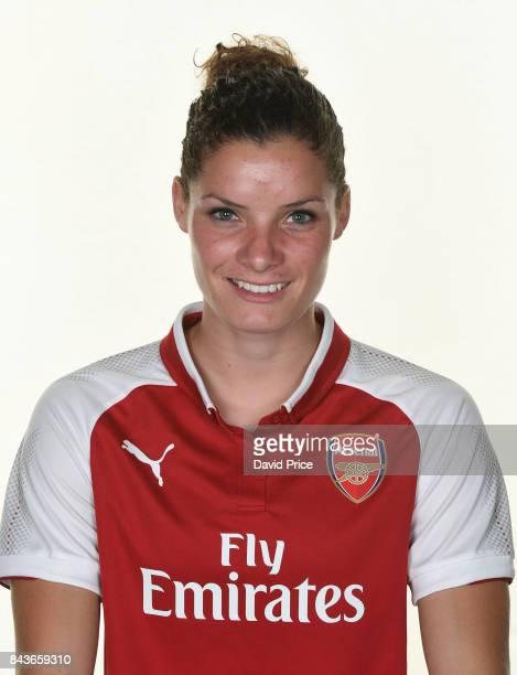 Dominique Janssen of Arsenal Women during the Arsenal Women 1st Team Photocall at London Colney on September 6 2017 in St Albans England