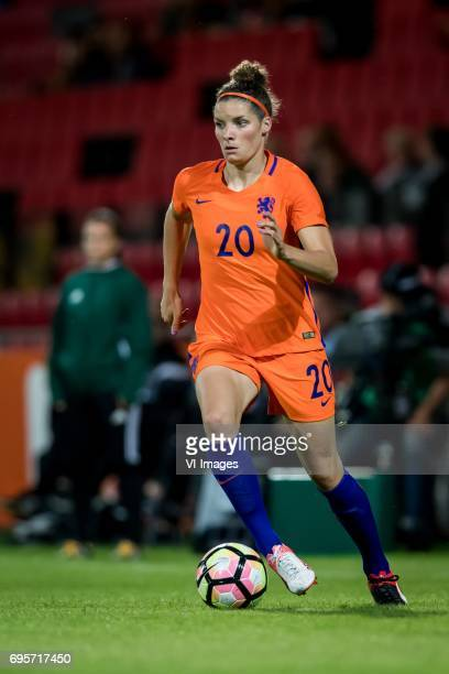 Dominique Janssen of the Netherlandsduring the friendly match between the women of The Netherlands and Austria at at The Adelaarshorst on on June 13...