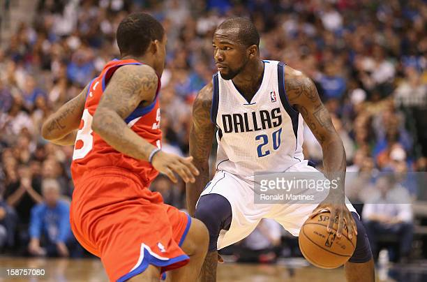 Dominique Jones of the Dallas Mavericks at American Airlines Center on December 18 2012 in Dallas Texas NOTE TO USER User expressly acknowledges and...