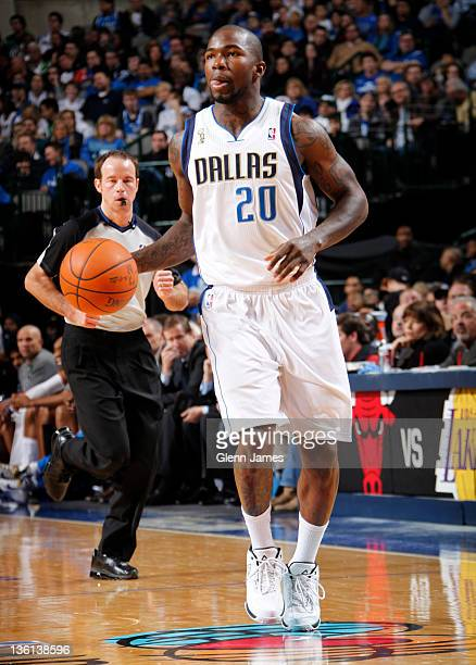 Dominique Jones of the Dallas Mavericks handles the ball against the Miami Heat on December 25 2011 at the American Airlines Center in Dallas Texas...