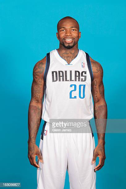 Dominique Jones of the Dallas Mavericks poses for a photo during the Dallas Mavericks Media Day on September 28 2012 at the American Airlines Center...
