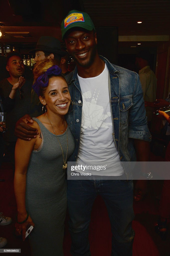 Dominique LaFargue of Creative Recreation and guest attend Nick Jonas X Creative Recreation Sole Sessions at Doheny Roomon April 30, 2016 in West Hollywood, California.