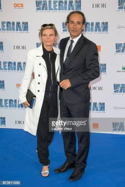 Dominique Lemonnier and Alexandre Desplat attend 'Valerian et la Cite desMille Planetes' Paris Premiere at La Cite Du Cinema on July 25 2017 in...