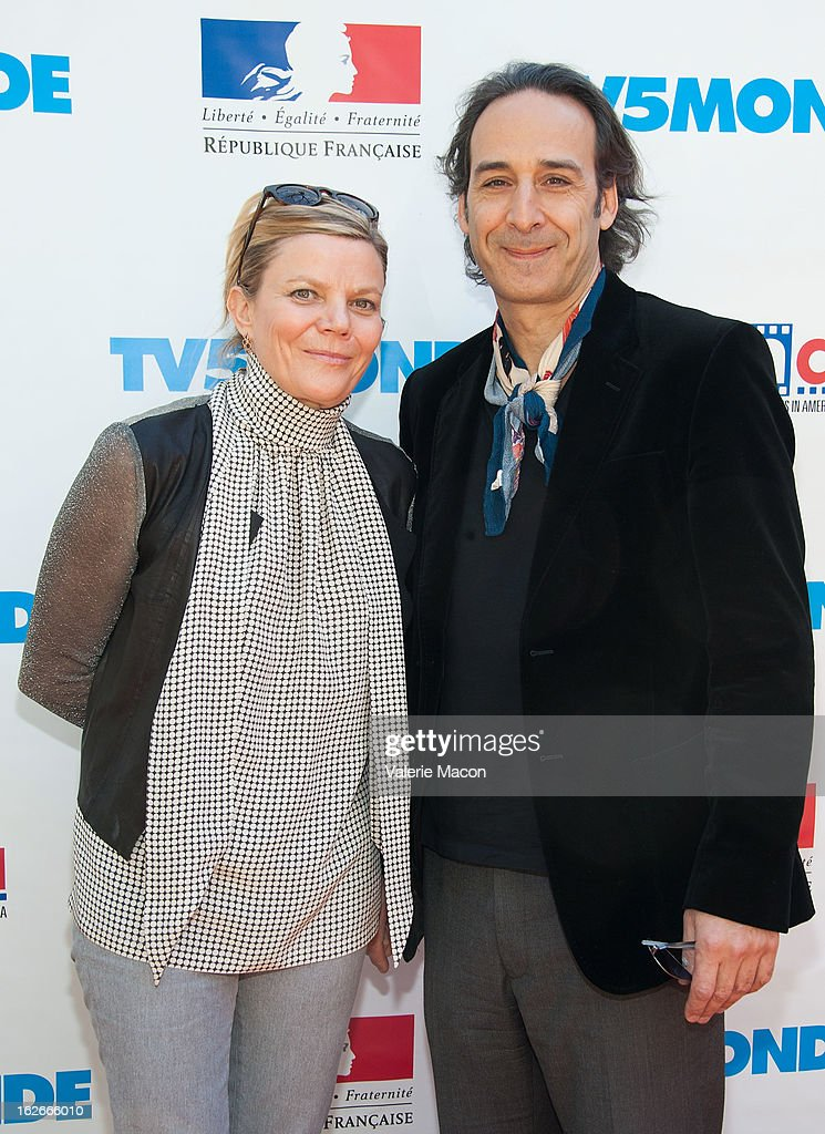 Dominique Lemonnier and <a gi-track='captionPersonalityLinkClicked' href=/galleries/search?phrase=Alexandre+Desplat&family=editorial&specificpeople=4162223 ng-click='$event.stopPropagation()'>Alexandre Desplat</a> attends The Consul General Of France, Mr. Axel Cruau, reception in Honor of The French Nominees For The 85th Annual Academy Awards at French Consulate's Home on February 25, 2013 in Beverly Hills, California.