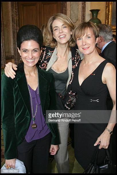 Dominique Loiseau Julie Andrieu and Countess Valerie Vrinat at Gastronomic Lunch Cooked By Famed Chefs For France's Candidacy To Unesco's World...