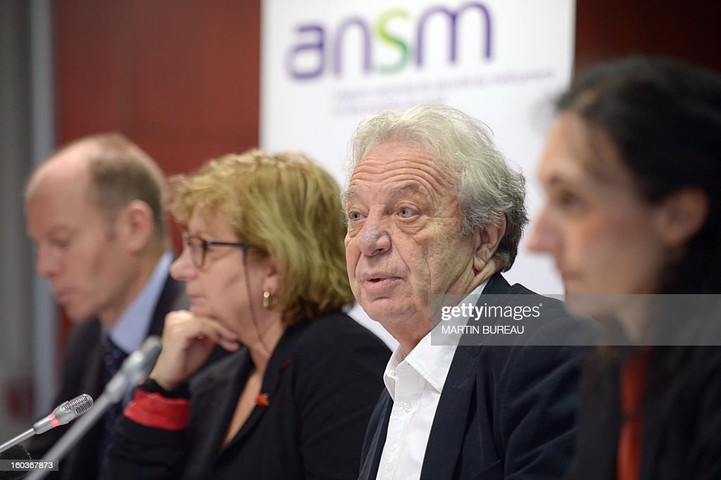 Dominique Maraninchi (2ndR), head of France's regulator the National Agency for the Safety of Drugs and Health Products (ANSM) speaks next to Ansm staff members, Francois Hebert (L), Carole Le Saulnier (R) and Pascale Maisonneuve, during a press conference on acne pill Diane 35, on January 30, 2013 in Paris. In the latest health scare to erupt in France, a drug watchdog on Wednesday announced it was suspending sales of an acne pill also used as a contraceptive after four women died and more than 100 others fell ill with blood clots. The National Agency for the Safety of Drugs and Health Products (ANSM) said it was suspending sales of a hormonal treatment called Diane-35, which is prescribed to 315,000 women in France. the product, made by the German firm Bayer, is authorised for treating acne in young women, but doctors have been prescribing it as a contraceptive because it stops ovulation, he said. AFP PHOTO MARTIN BUREAU