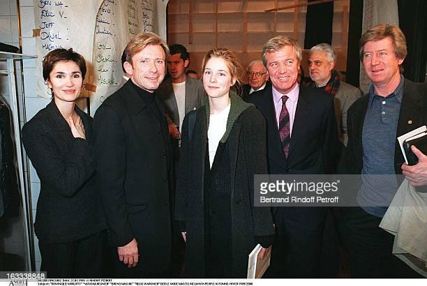 Dominique Morlotti 'Natacha Regnier' 'Bruno Masure' 'Regis Wargnier' at theLanvin Menswear Paris Catwalk Show Autumn Winter 1999/2000