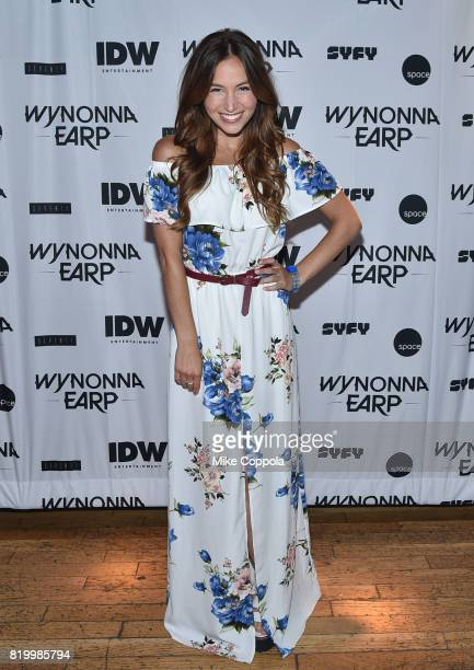 Dominique ProvostChalkley at the 'Wynonna Earp' Media Mixer with cast and Fan Appreciation Party during ComicCon International 2017 on July 20 2017...