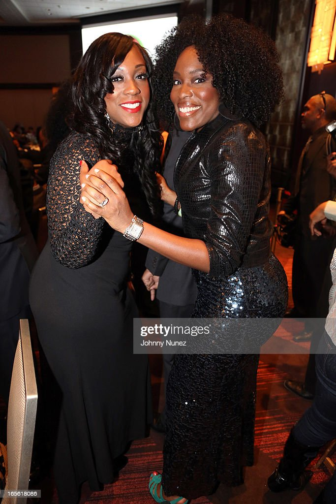 Dominique Sharpton and Tren'ness Woods-Black attend the 2013 Keepers Of The Dream Awards at the Sheraton New York Hotel & Towers on April 4, 2013, in New York City.