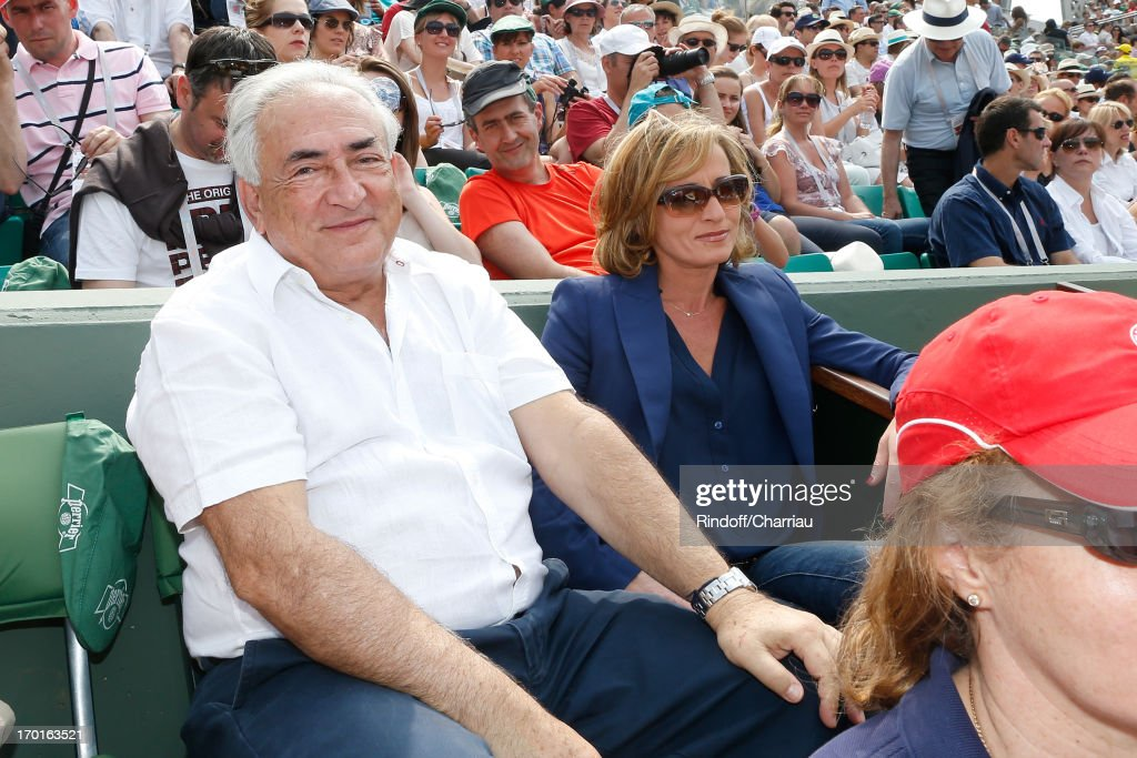 <a gi-track='captionPersonalityLinkClicked' href=/galleries/search?phrase=Dominique+Strauss-Kahn&family=editorial&specificpeople=227268 ng-click='$event.stopPropagation()'>Dominique Strauss-Kahn</a> and Myriam L'Aouffir sighting at Roland Garros Tennis French Open 2013 - Day 14 on June 8, 2013 in Paris, France.
