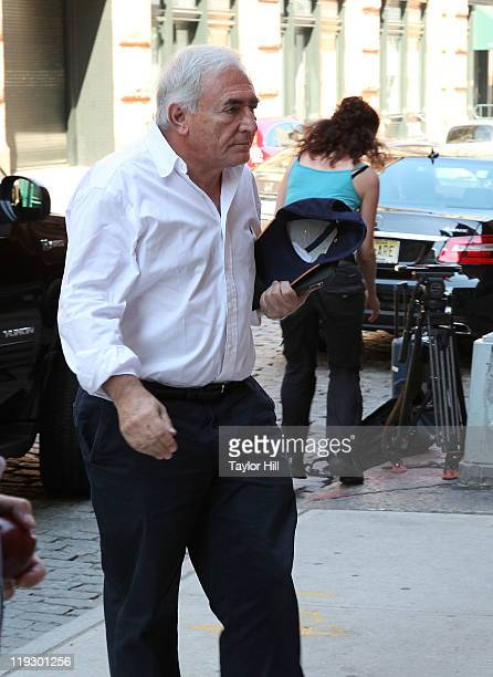 Dominique StraussKahn arrives at his temporary residence on July 17 2011 in New York United States