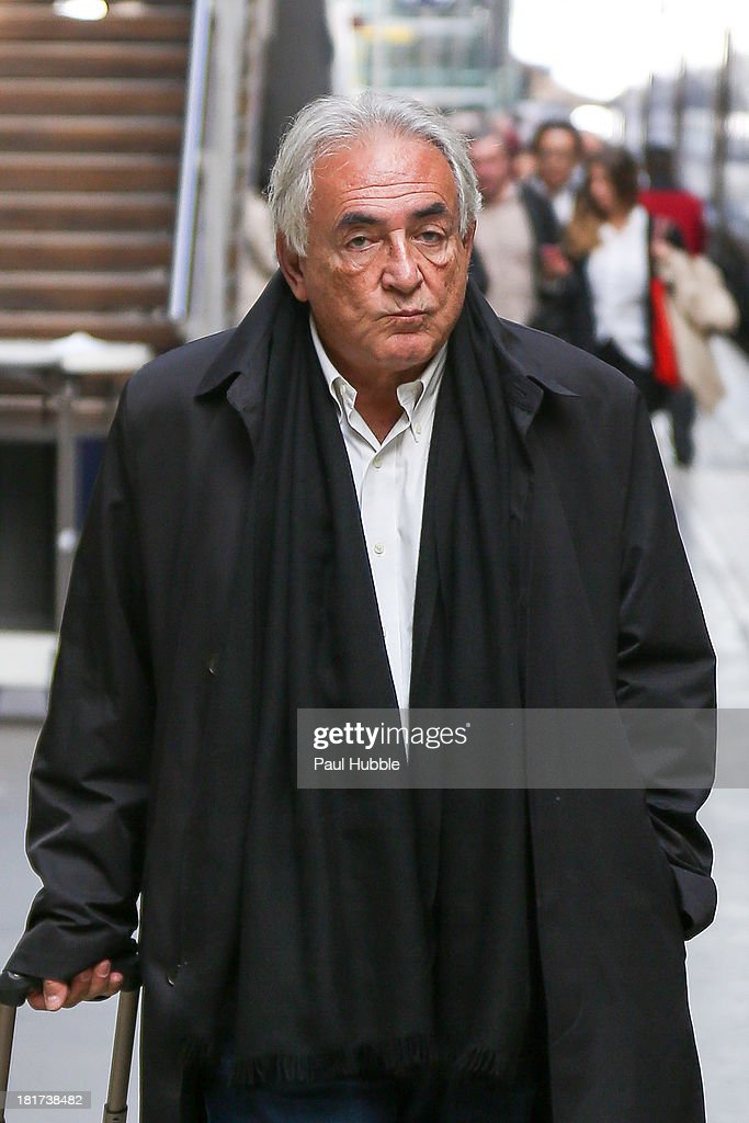 COVERAGE** <a gi-track='captionPersonalityLinkClicked' href=/galleries/search?phrase=Dominique+Strauss-Kahn&family=editorial&specificpeople=227268 ng-click='$event.stopPropagation()'>Dominique Strauss-Kahn</a> is seen at the 'Gare du Nord' station on September 24, 2013 in Paris, France.