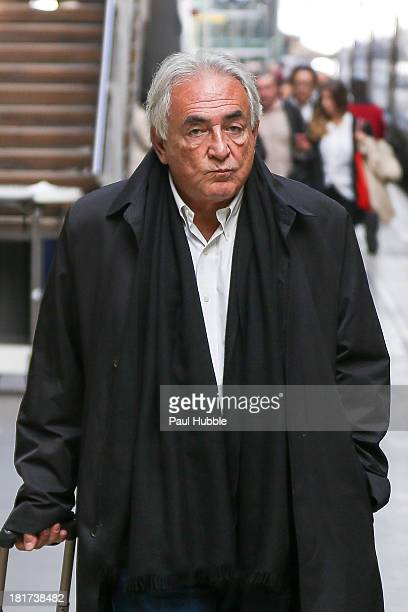 COVERAGE** Dominique StraussKahn is seen at the 'Gare du Nord' station on September 24 2013 in Paris France