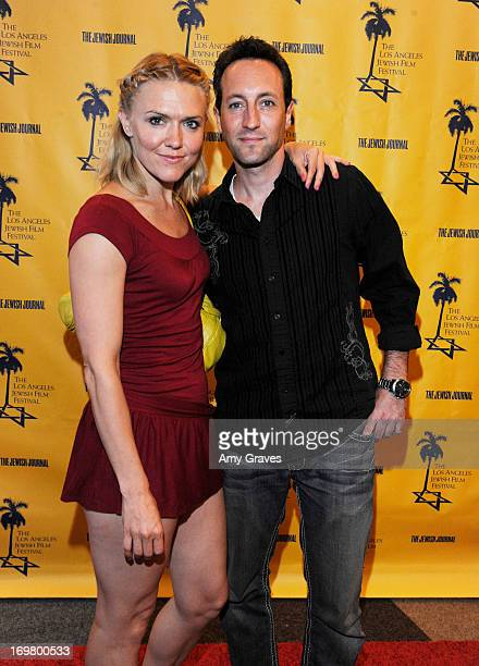 Dominique Swain and Marc Clebanoff attend the LA Jewish Film Festival Opening Night Gala at Writers Guild Theater on June 1 2013 in Beverly Hills...