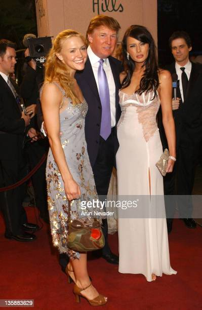 Dominique Swain Donald Trump and Melania Krauss during The 14th Annual Night of 100 Stars Oscar Gala at Beverly Hills Hotel in Beverly Hills...