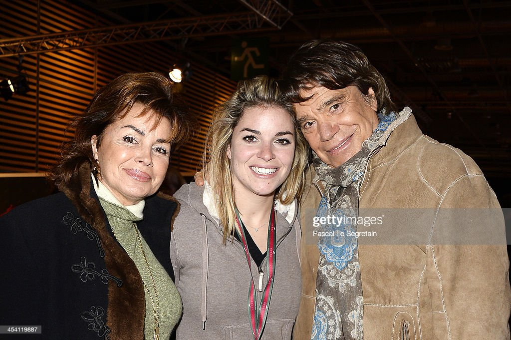 Dominique Tapie, Sophie Tapie and <a gi-track='captionPersonalityLinkClicked' href=/galleries/search?phrase=Bernard+Tapie&family=editorial&specificpeople=586829 ng-click='$event.stopPropagation()'>Bernard Tapie</a> attend the Gucci Paris Masters 2013 on December 7, 2013 in Paris, France.