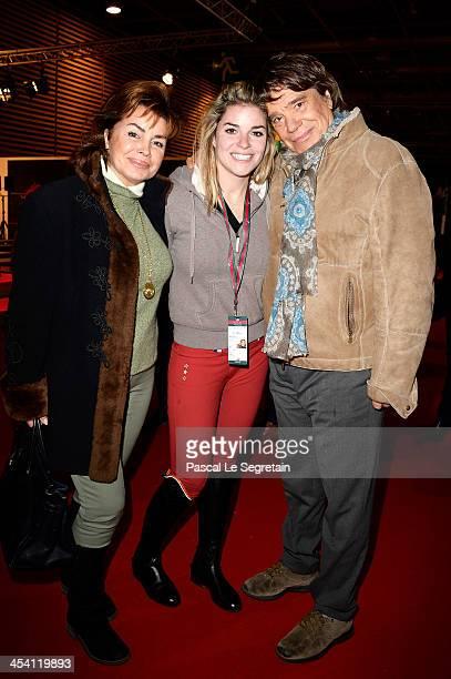 Dominique Tapie Sophie Tapie and Bernard Tapie attend the Gucci Paris Masters 2013 on December 7 2013 in Paris France