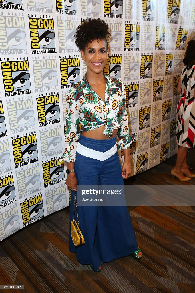 Dominique Tepper arrives at 'The Expanse' press line at Comic-Con International 2017 on July 22, 2017 in San Diego, California.