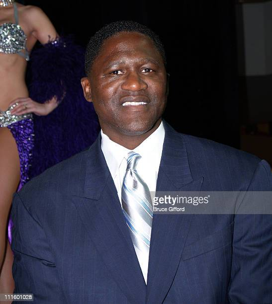 Dominique Wilkins during NBA Legends Unveil 2007 NBA AllStar Logo at Fashion Show Mall in Las Vegas NV United States