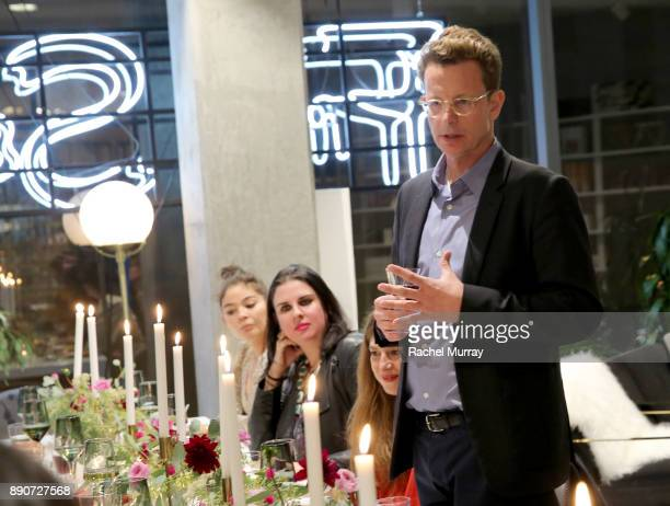 Domino CEO Nathan Coyle at the Domino Outpost CB2 Influencer Dinner at Fred Segal on December 11 2017 in Los Angeles California