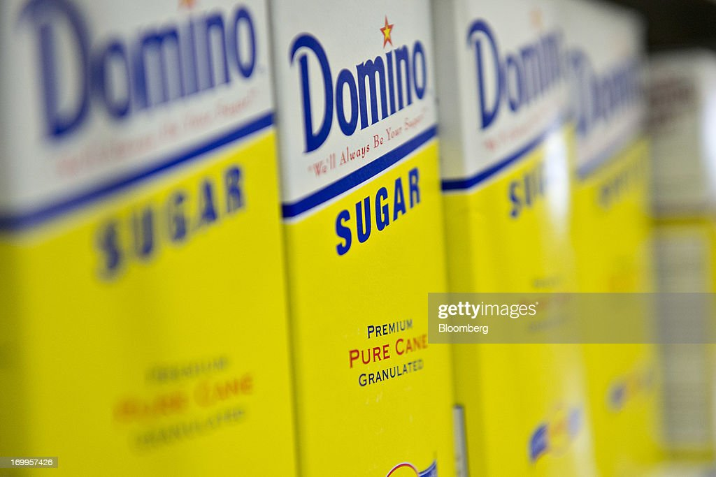 Domino Foods Inc. brand sugar sits on display at a supermarket in Princeton, Illinois, U.S., on Tuesday, June 4, 2013. The Food and Agriculture Organization of the United Nations will release its monthly food price index on June 6. The index, a measure of the monthly change in international prices of a basket of food commodities, consists of the average of five commodity group price indices including meat, dairy, grains, oil and sugar. Photographer: Daniel Acker/Bloomberg via Getty Images