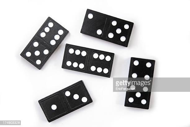 Dominoes on White