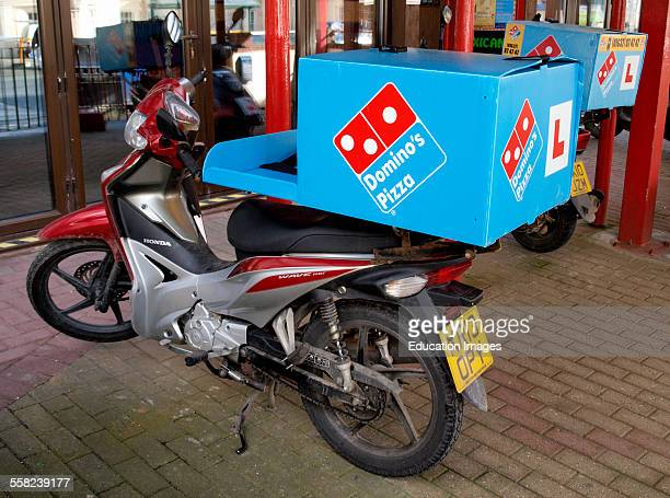 Domino's Pizza delivery motorbike Cornwall