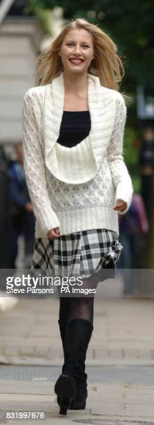 Dominque Laniel a model from Union Models launches the Marks Spencer Per Una Autumn 2006 fashion collection at Grosvenor Place in London She wearing...