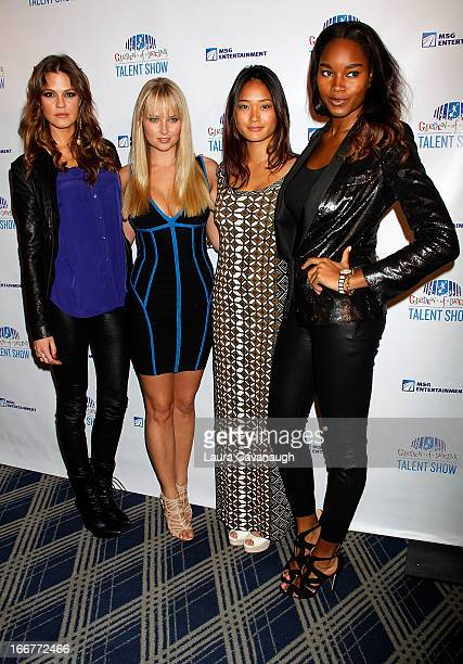 Dominque Piek Genevieve Morton Jarah Mariano and Damaris Lewis attend the 2013 Garden of Dreams Foundation Talent Show at Radio City Music Hall on...