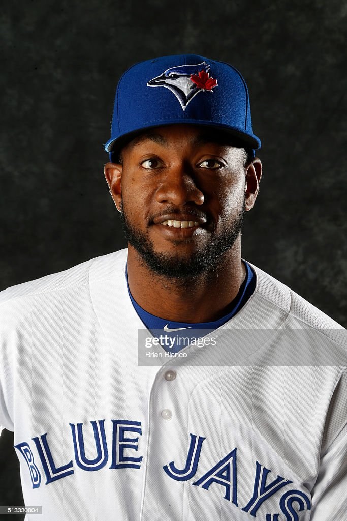 <a gi-track='captionPersonalityLinkClicked' href=/galleries/search?phrase=Domonic+Brown&family=editorial&specificpeople=6900643 ng-click='$event.stopPropagation()'>Domonic Brown</a> #81 of the Toronto Blue Jays poses for a photo during the Blue Jays' photo day on February 27, 2016 in Dunedin, Florida.