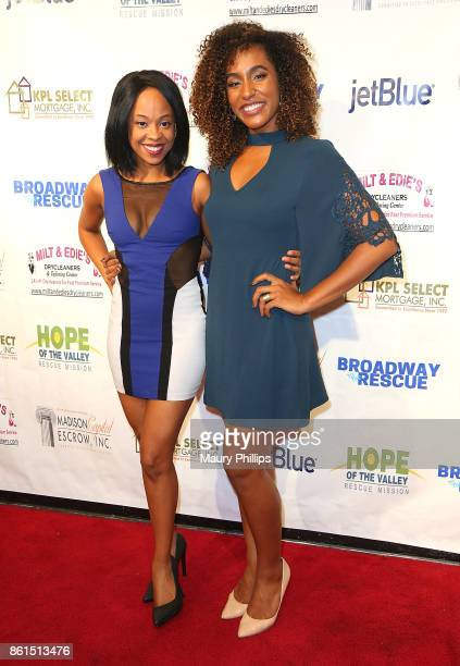 Domonique Paton and Tiana Okoye attend Broadway to The Rescue a benefit for the homeless at The Montalban Theater on October 14 2017 in Los Angeles...