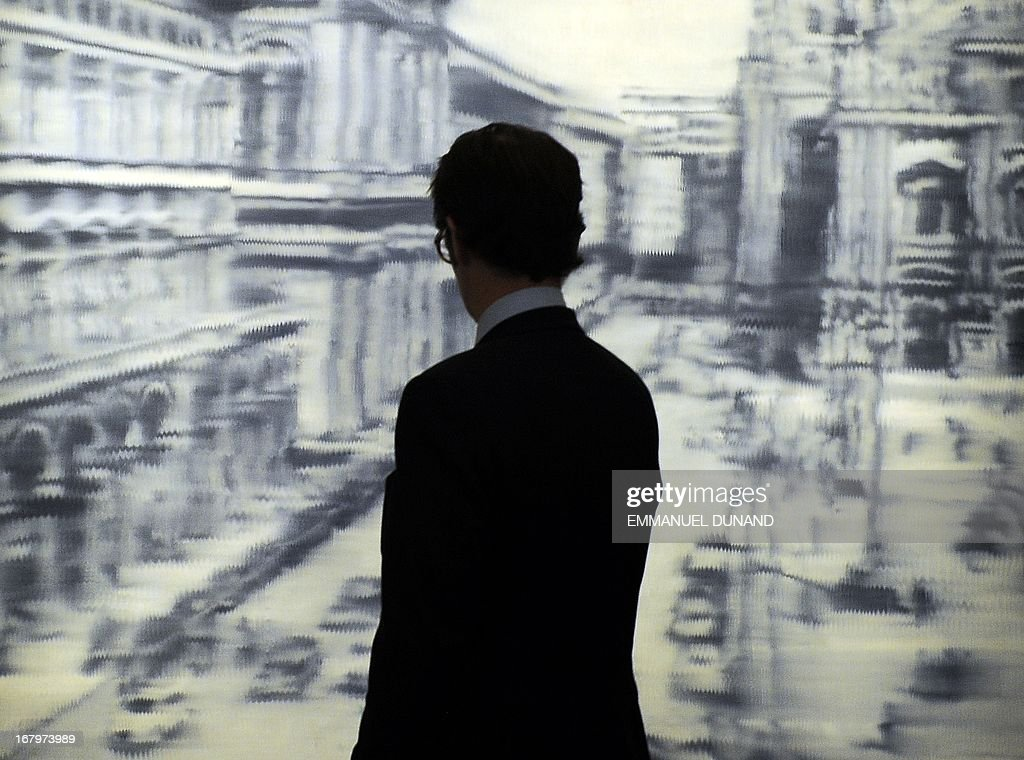 'Domplatz, Mainland' by Gerhard Richter is on display during a preview of Sotheby's Impressionist and Modern Art sales in New York on May 3, 2013. Sotheby's is scheduled to hold its Impressionist and Modern Art sales May 7. AFP PHOTO/Emmanuel Dunand ++RESTRICTED TO EDITORIAL USE, MANDATORY MENTION OF THE ARTIST UPON PUBLICATION, TO ILLUSTRATE THE EVENT AS SPECIFIED IN THE CAPTION++